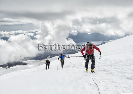 russia upper baksan valley caucasus mountaineers