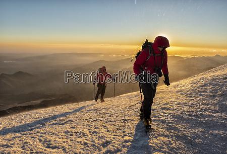 russia upper baksan valley caucasus mountaineer