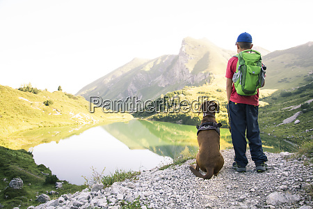 austria south tyrol young boy standing