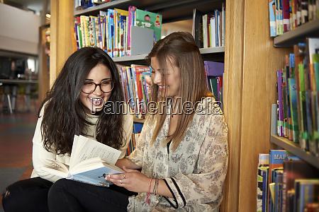 two young women having fun in