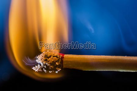 brennender matchstick makro
