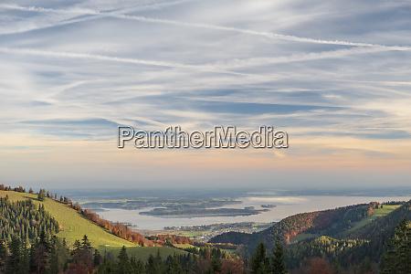 germany upper bavaria aschau chiemsee lake