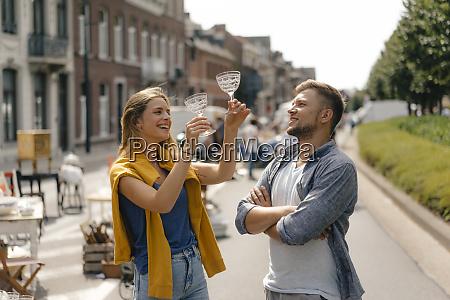 belgium tongeren happy young couple with