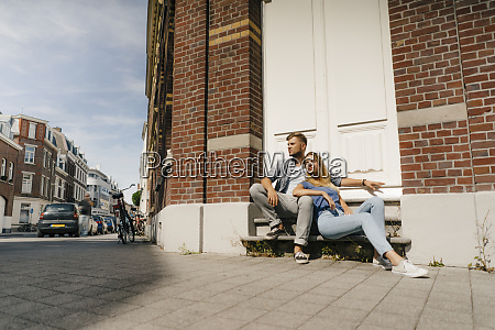 netherlands maastricht young couple having a