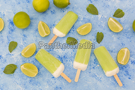lime mint popsicles limes and mint