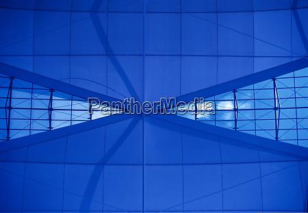 architektur blau abstrakt