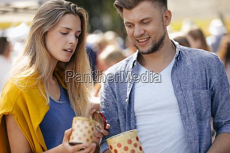 belgium tongeren young couple with tin