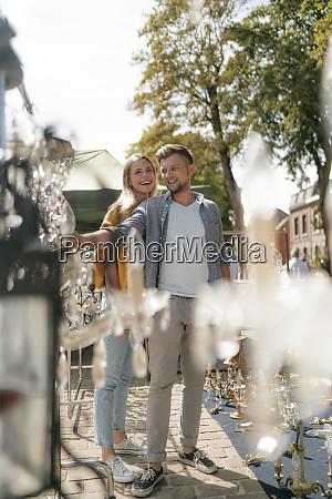 belgium tongeren happy young couple on