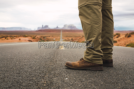 usa utah man standing on road