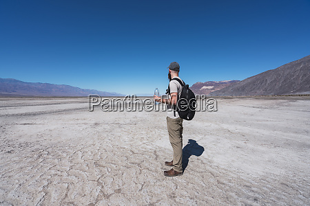 usa california death valley man with