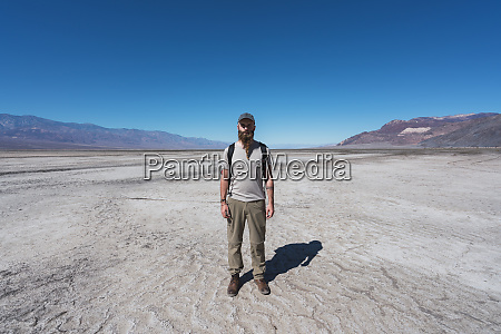 usa california death valley man standing