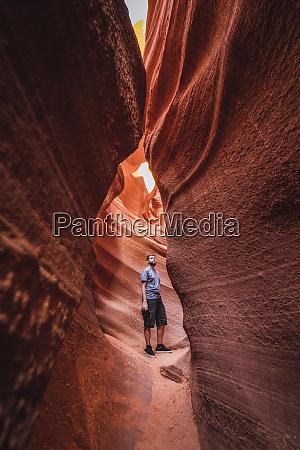 usa arizona tourist standing in lower