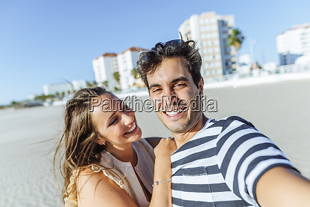 selfie of a happy young couple