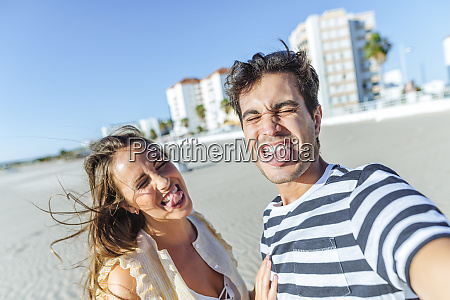 funny selfie of a happy young