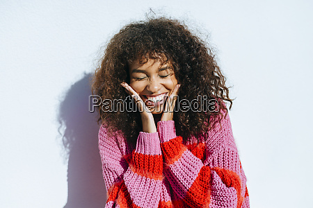portrait of laughing young woman with
