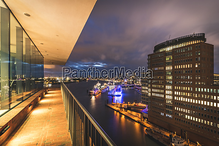 germany hamburg view from plaza observation