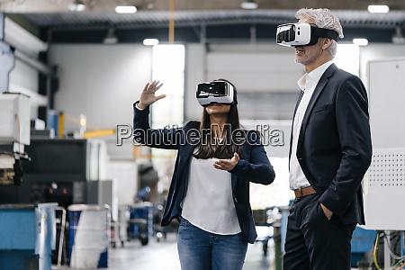 businessman an woman in high tech
