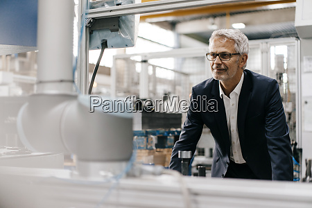 manager smiling in high tech company