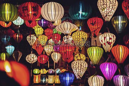 vietnam hoi an lampions zu verkaufen