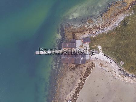 norway aerial view of pier