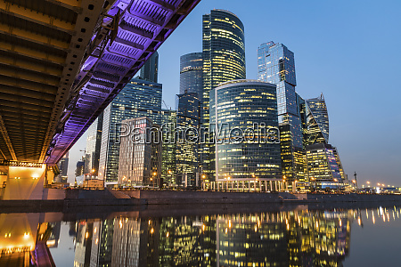 russia moscow modern skyscrapers of the