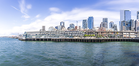 usa washington state seattle skyline and