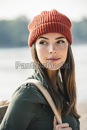 portrait of young woman at the