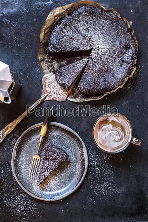 schwedischer kaddkaka dunkler schokoladenkuchen schwedischer brownie