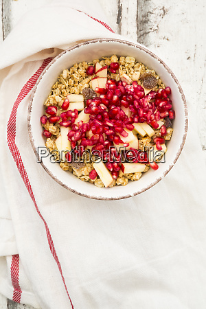 bowl of fruit muesli with dried