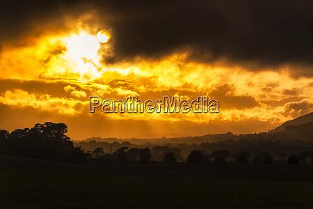 great britain scotland fife sunset