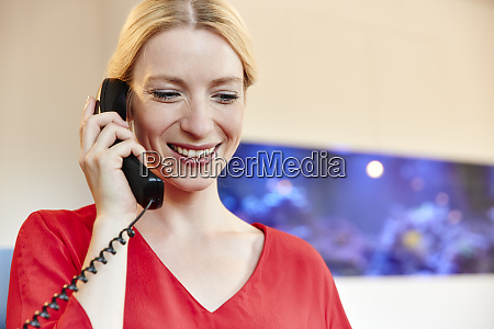 portrait of smiling young woman on