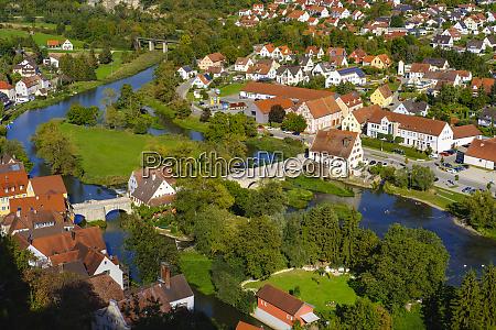 germany bavaria swabia harburg woernitz river