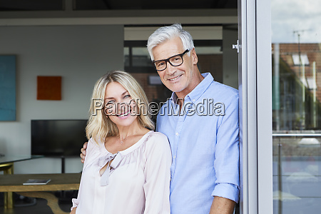 portrait of smiling mature couple at