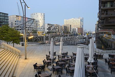 deutschland hamburg hafencity magellan terrasse und