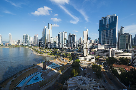 panama panama city skyline financial district