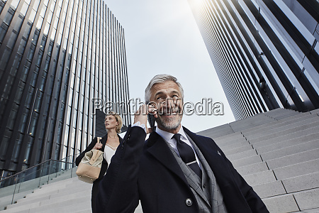 portrait of smiling businessman on the