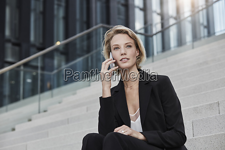 portrait of young businesswoman on the