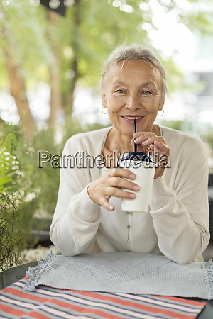 portrait of smiling senior woman at