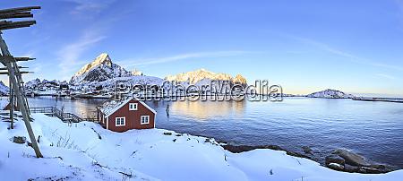 norway lofoten islands fishing village reine