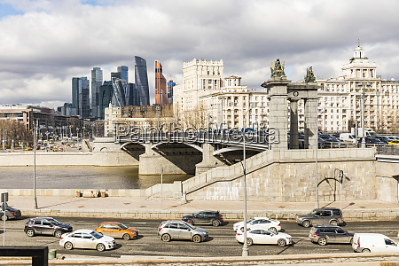 russia moscow bridge in the city