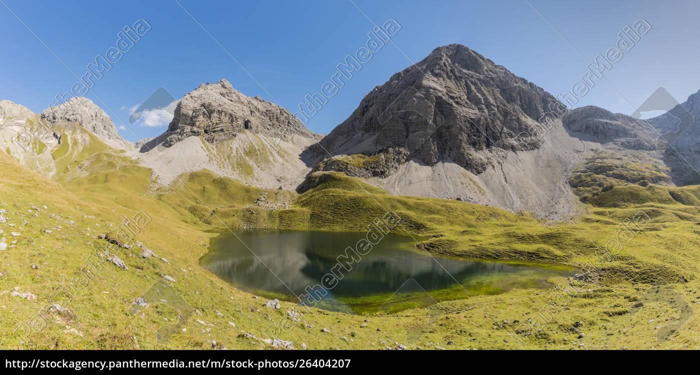 deutschland, bayern, allgäu, allgäuer, alpen, rappensee, hochgundspitze, und, rappenseekopf - 26404207