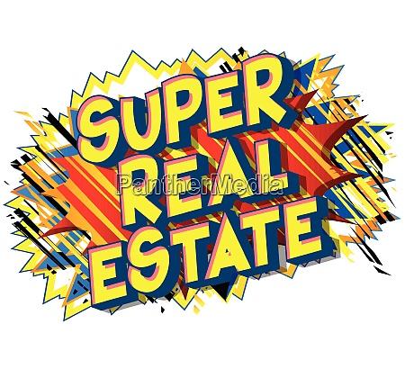 super real estate comic book