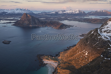 majestic natural landscape with view of