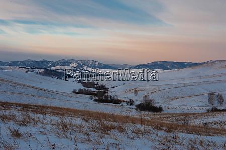 altai berge winterstrasse