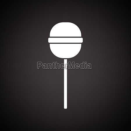 stick candy icon black background with