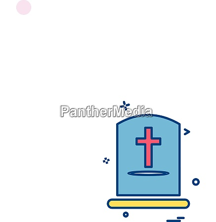 grave icon design vektor