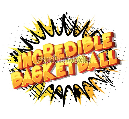 incredible basketball comic book style