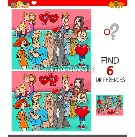 find differences game with characters in