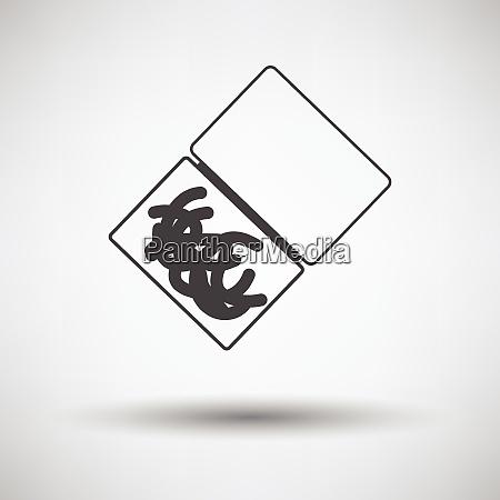 symbol des wurmcontainers symbol des wurmcontainers