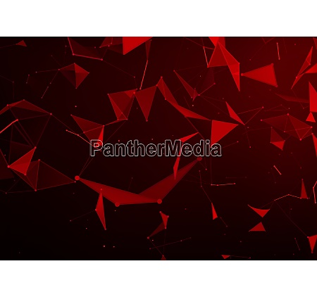 abstract background with red triangles in